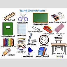 Spanish Classroom Objects • Spanish4kiddos Educational Services