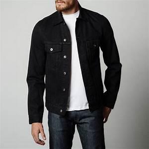 Black Denim Jacket Mens - Jacket To