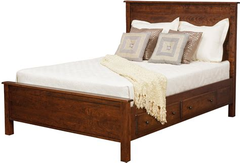 lewiston queen panel supreme bed    drawers  side