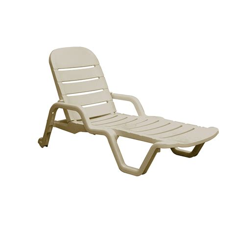 chaise elizabeth stackable white resin patio chaise lounge chair desert