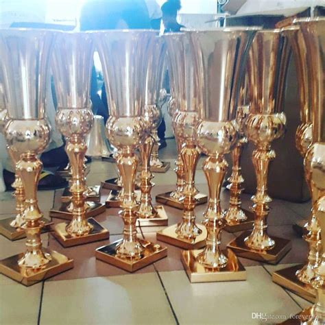 2018 Gold Metal Flower Vase Silver Tall Vases Royal Gold