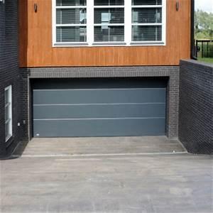 porte de garage sectionnelle panneau lisse coloris au With panneau porte garage