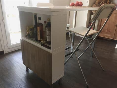 fabriquer une table bar de cuisine table haute ilot de cuisine de delphine l120 x l60 x
