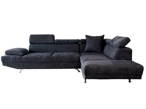 canape d canapé d 39 angle microfibre 5 places avec têtières réglables
