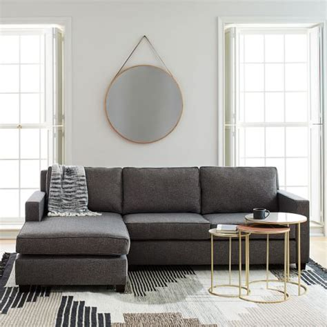 chaise henri 2 2 sectional with reversible chaise this twoseater
