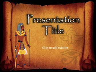 ancient egypt  powerpoint template