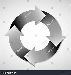 Vector Black And White Life Cycle Diagram    Schema