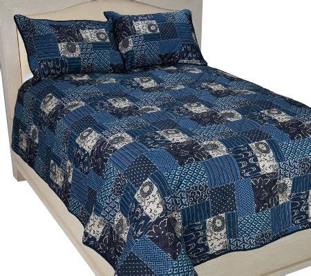 Quilt And Sham Set by Indigo Blue Quilt And Sham Set Page 1 Qvc