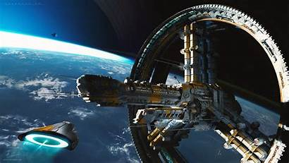 Sci Fi Station Space Starship Deviantart Wallpapers