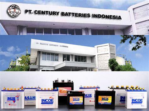 lowongan kerja ptcentury batteries indonesia terbaru