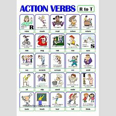 Pictionary  Action Verb Set (4)  From R To T  Esl Worksheets Of The Day Pinterest
