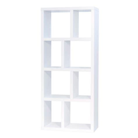 bout de canapé m etagère bibliothèque berlin 4 niveaux 70 cm blanc 9500