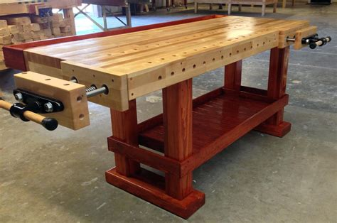 laminated maple workbench top woodworking bench