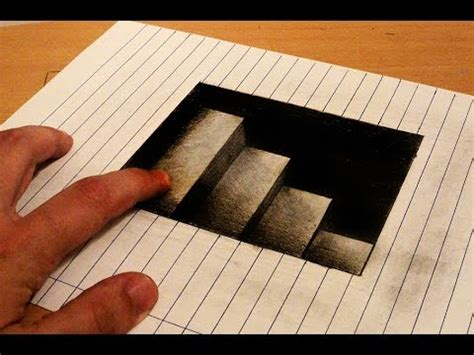 draw  stairs   anamorphic drawing