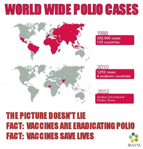 Vaccine Memes - vaccination is winning the war against polio pinned by refutations to anti vaccine memes https