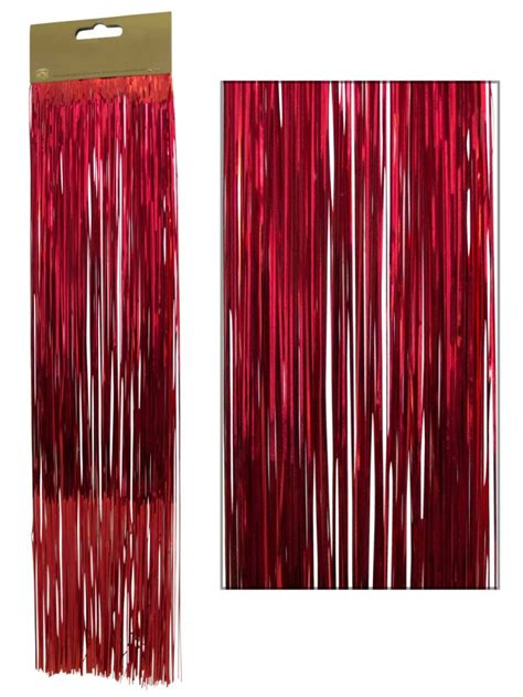 red lametta tinsel icicles 300 strands christmas