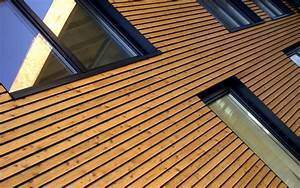 bardage amenagement exterieur terrasse menuiseries With type de bardage bois exterieur