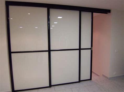 porte coulissante en verre pour cuisine portes coulissantes de séparation de pièce sans rail au