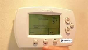 How To  Program Honeywell Thermostat