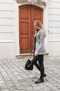Outfit Karo Blazer u0026 Lederleggings - Bits and Bobs by Eva