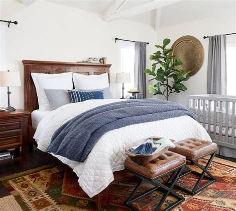 pottery barn bed bowry reclaimed wood bed pottery barn