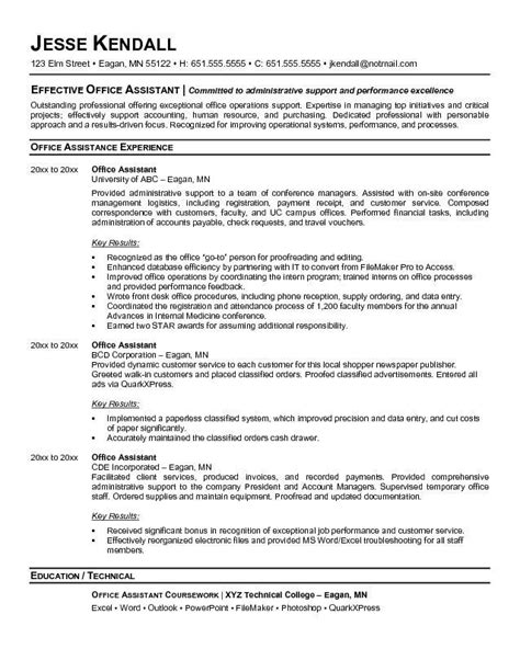 Resume Objective Executive Assistant by Executive Administrative Assistant Resume Exles It S