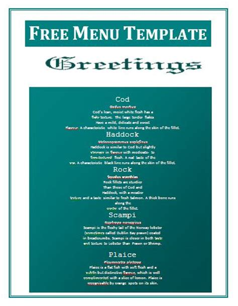 blank menu template free download 12 food menu templates free images free food menu design