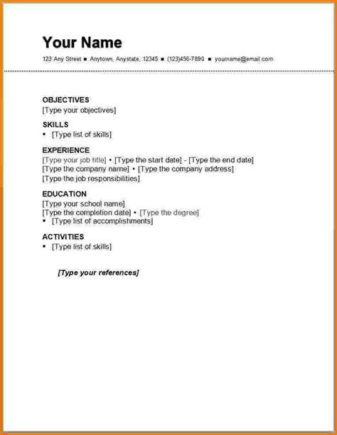 Resume Templates For Beginners by Beginner Resume Format