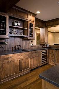 27 best rustic kitchen cabinet ideas and designs for 2018 for Kitchen cabinets lowes with rustic wall art ideas