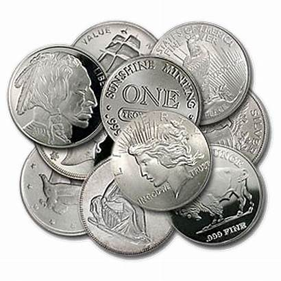 Silver Rounds Oz Coins Bullion Mint Generic