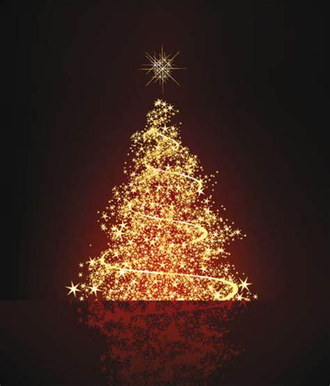 bright stars christmas tree vector free vector 4vector