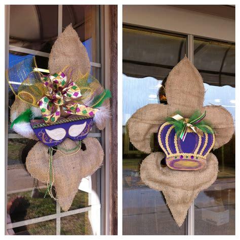 burlap mardi gras door decorations burlap mardi gras fleur de lis door decor available at