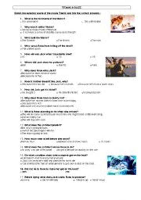 titanic worksheets