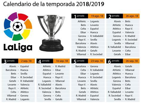 Calendario completo de la Liga 2018/2019