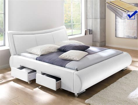 Polsterbett Lando Bett 180x200 Cm Weiß Mit Lattenrost Und