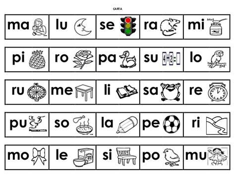 Loteria De Silabas M,s,p,l,r