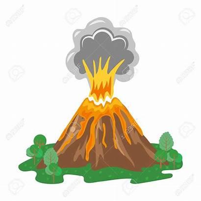 Volcano Eruption Erupting Lava Clipart Vulcano Smoke