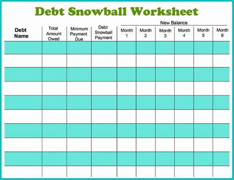 Debt Payoff Spreadsheet Debt Snowball Excel Credit 38 Debt Snowball Spreadsheets Forms Calculators