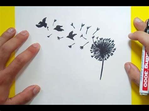 como dibujar  diente de leon paso  paso   draw  dandelion youtube