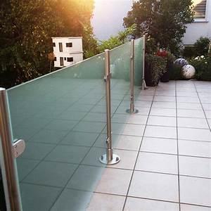 Glaszaun Transvent Als Sichtschutz Im Garten GLASPROFI24