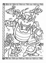 Coloring Pages Nintendo Bowser Mario Neighborhood Super Map Colouring Printable Brothers Print Bros Sheets Power Popular Snes Easy Library Clipart sketch template