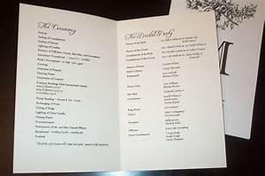 wedding program templates sample wedding programs With wedding programs ideas samples