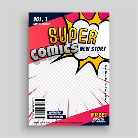 comic book cover template pop vectors photos and psd files free