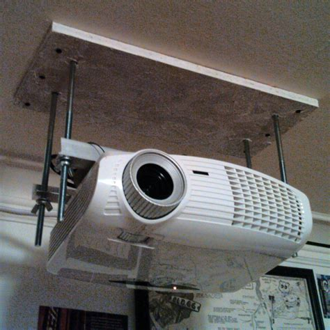 Ceiling Projector Mount Diy by Dirt Cheap Diy Adjustable Projector Ceiling Mount