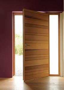 Porte D Entrée En Bois Moderne : porte d 39 entr e bois ~ Nature-et-papiers.com Idées de Décoration