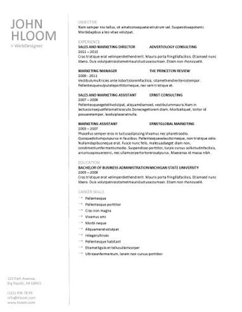 free downloadable resume templates resume genius 89 best