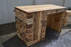 Construire Un établi En Bois : bureau en bois de palette creation palette ~ Premium-room.com Idées de Décoration