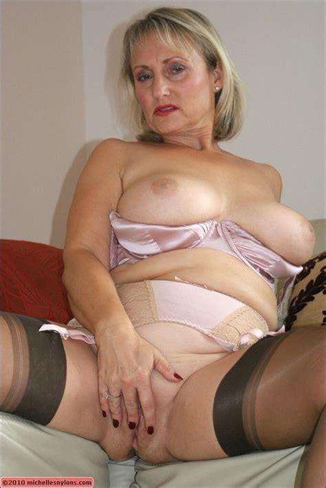 Stocking Clad Milf Rubs Her Cunt Mature Xxx Pics