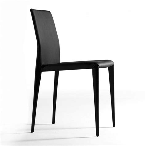 bruno black modern italian dining chair