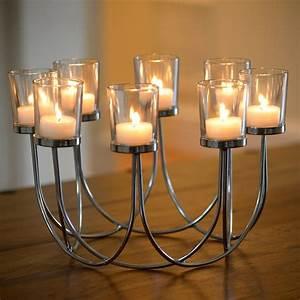 Dc Flood Light Tea Light Glass Candle Holder Auraglow Led Lighting